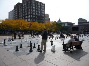 Animation autour d'une partie d'échecs