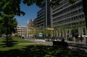 L'influence française est présente avec cet accès au Métro de Montréal
