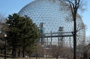 La Biosphère, plus tôt ce printemps.