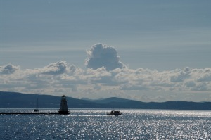 Un dernier regard sur le lac Champlain avant le retour au Québec