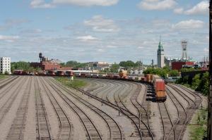 Une gare de triage dans le secteur Sud de Montréal