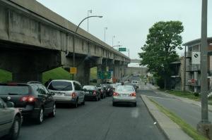 Une autoroute fermée à la circulation