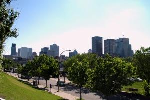 Vue terrestre de Montréal