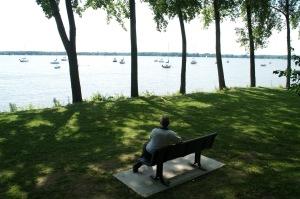 Rien de mieux qu'une pause pour admirer la beauté du Lac Saint-Louis