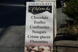 Comment terminer une journée sans visiter cette amoureuse du chocolat, Colombe Ménard, de Dunham, qui concocte de si délicieuses friandises