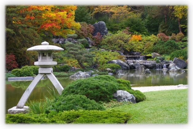 Jardin du Japon, jardin botanique, vision fugitive d'un orient en automne, automne à Montréal