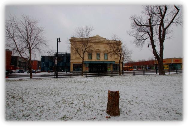 Première bordée de neige à Montréal