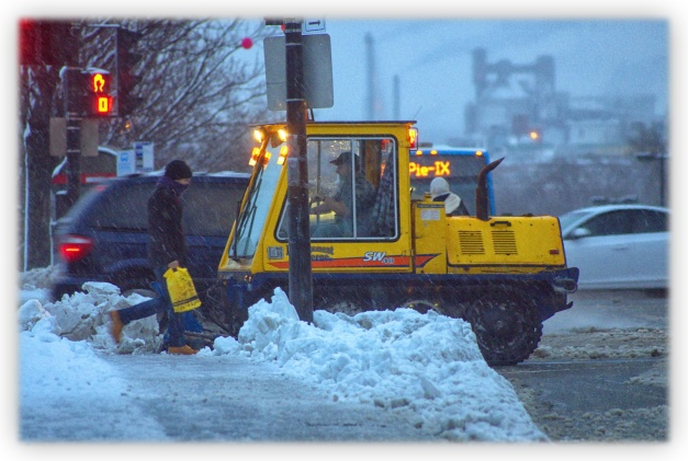 La neige fondante en abondance est sans pitié