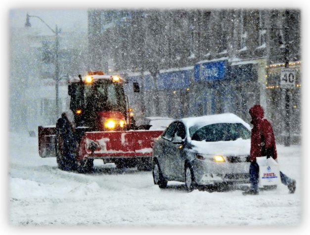 Tempête de neige et poudrerie