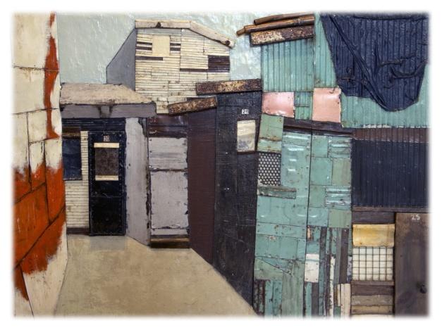 Isabelle Beaupré bâtit des maisons sur toile